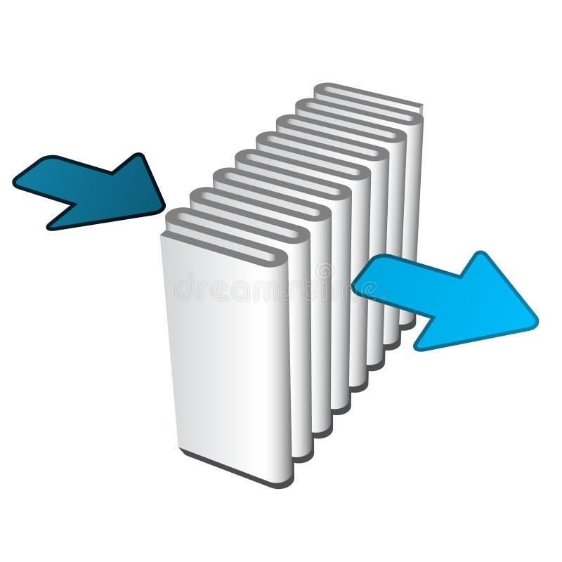 空气过滤器作用象 向量例证