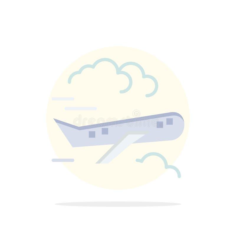 空气,飞机,飞机,飞行摘要圈子背景平的颜色象 库存例证