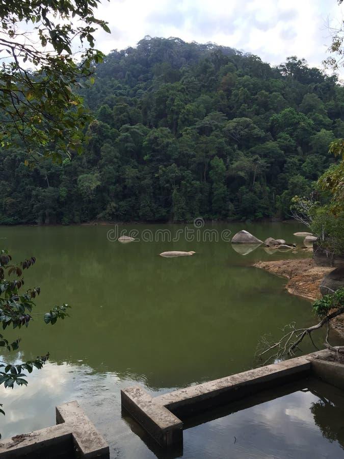 空气Itam水坝,槟榔岛,马来西亚 库存图片