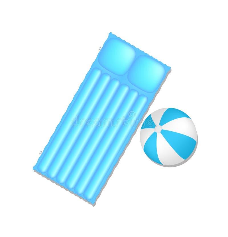 空球床垫 向量例证