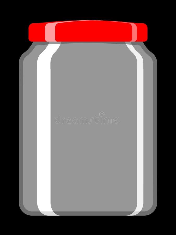 空瓶子保留 皇族释放例证