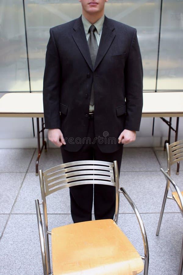 空生意人的椅子 免版税库存照片
