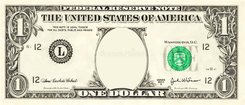 空白一美金例证传染媒介 皇族释放例证