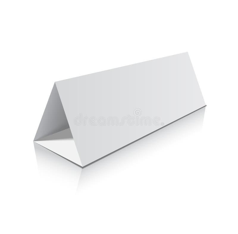 空白三部合成的纸小册子大模型 : 向量例证