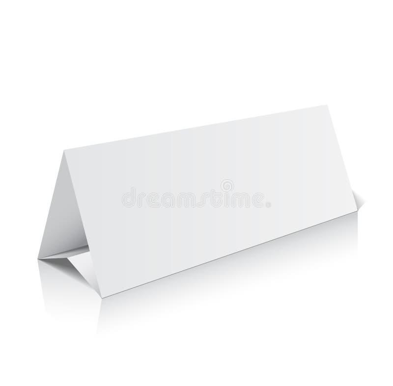 空白三部合成的纸小册子大模型 : 库存例证