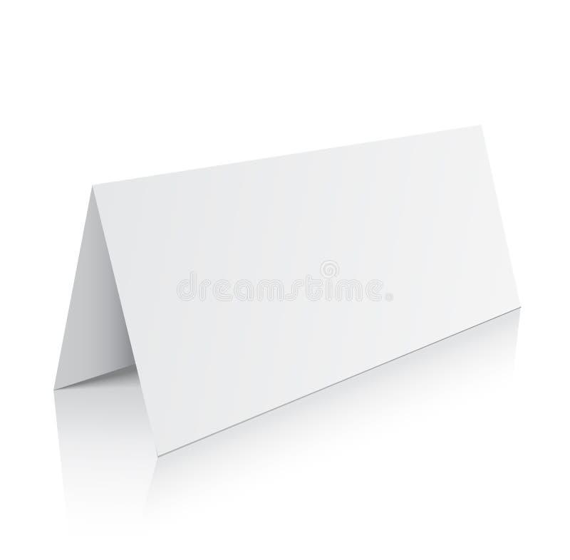 空白三部合成的纸小册子大模型 : 皇族释放例证