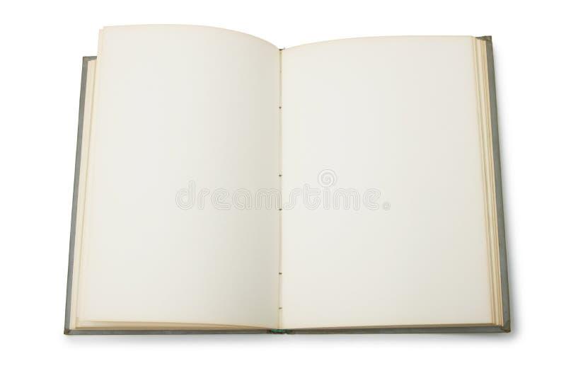 空白书开放页 库存图片