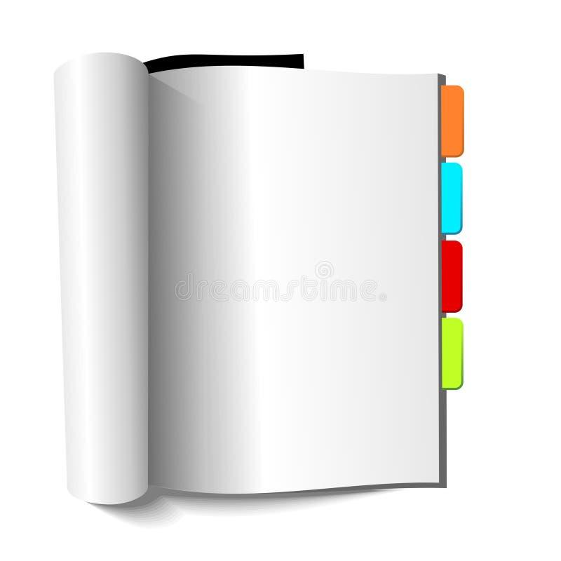 空白书杂志标记 库存例证