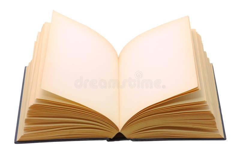 空白书查出的开放白色 库存照片