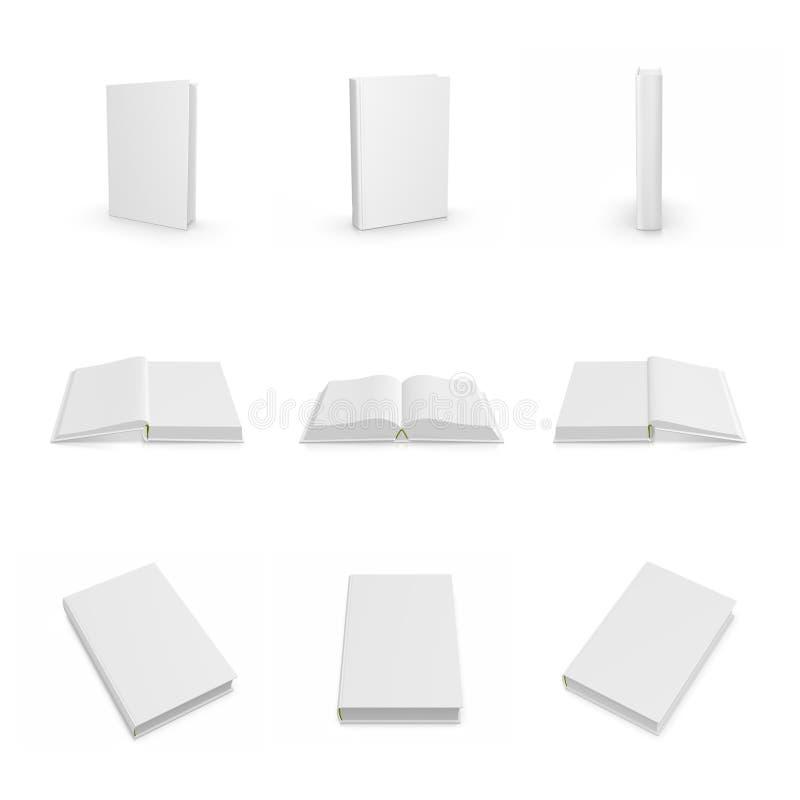 空白书籍收藏盖子空的精装书栈 皇族释放例证