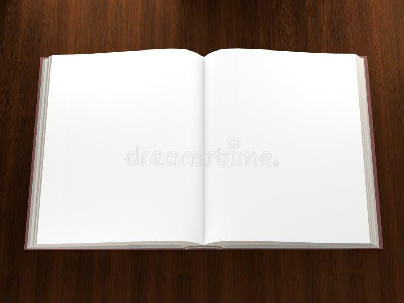 空白书被开张的页 库存图片