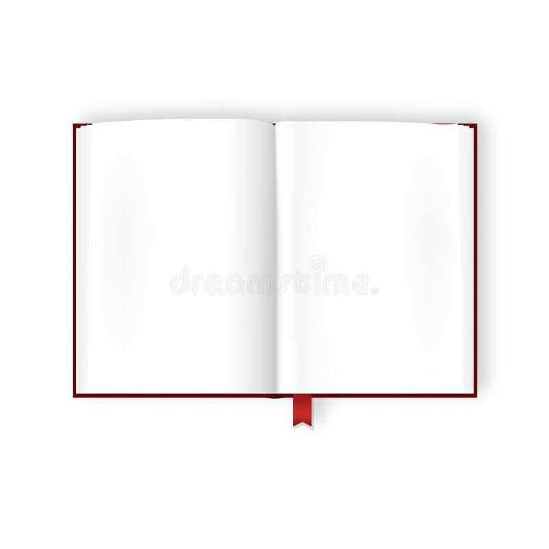 空白书被开张的页 库存例证