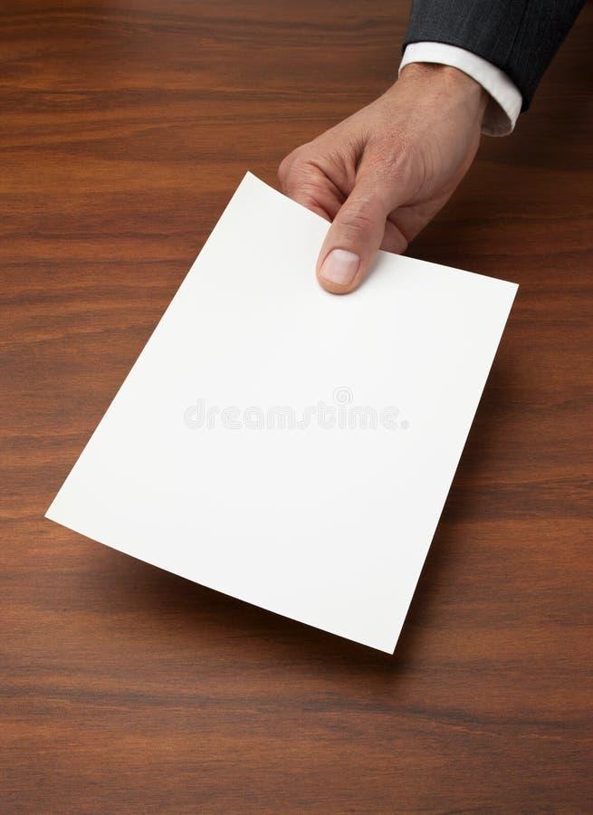 空白企业合同发票 库存照片