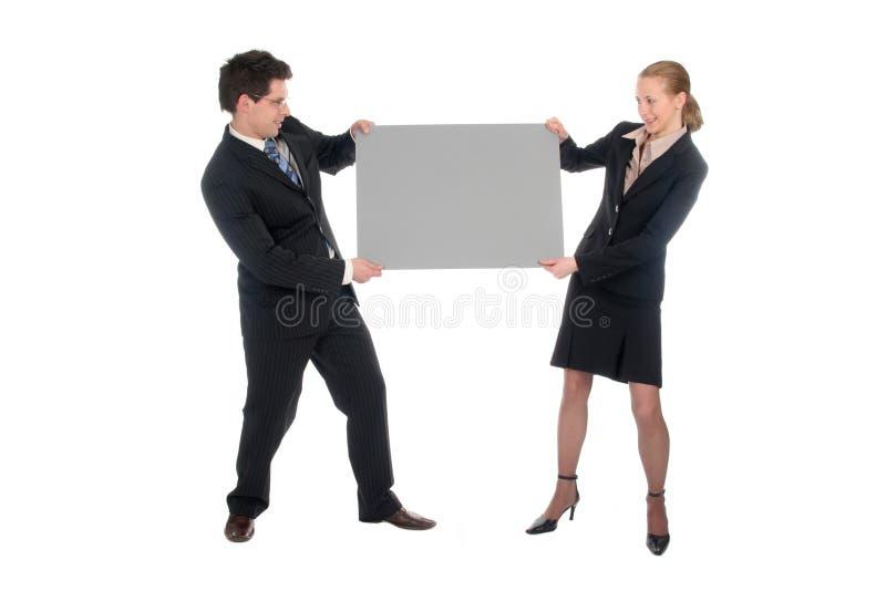 空白企业夫妇藏品符号 免版税图库摄影