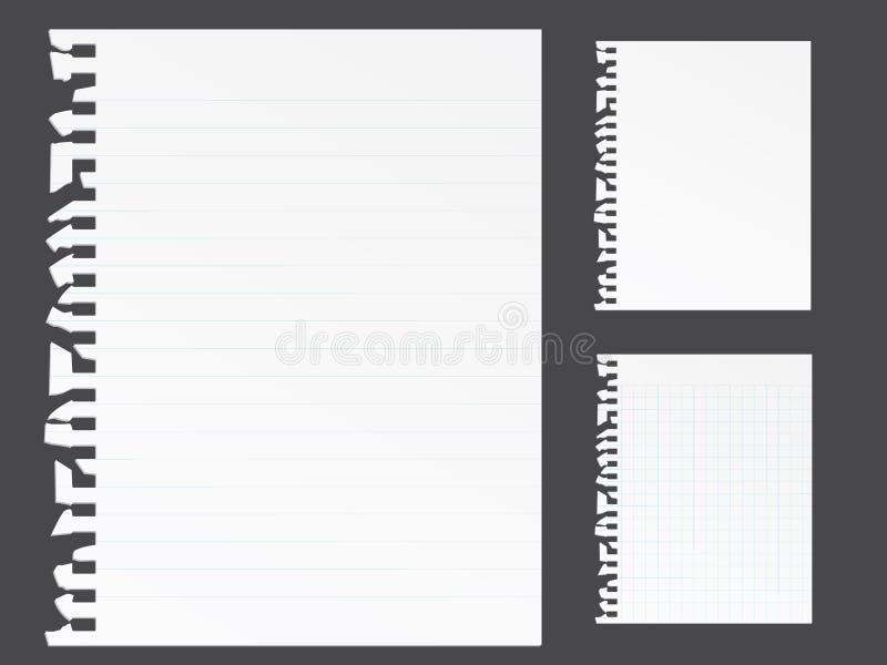 空白便条纸 皇族释放例证