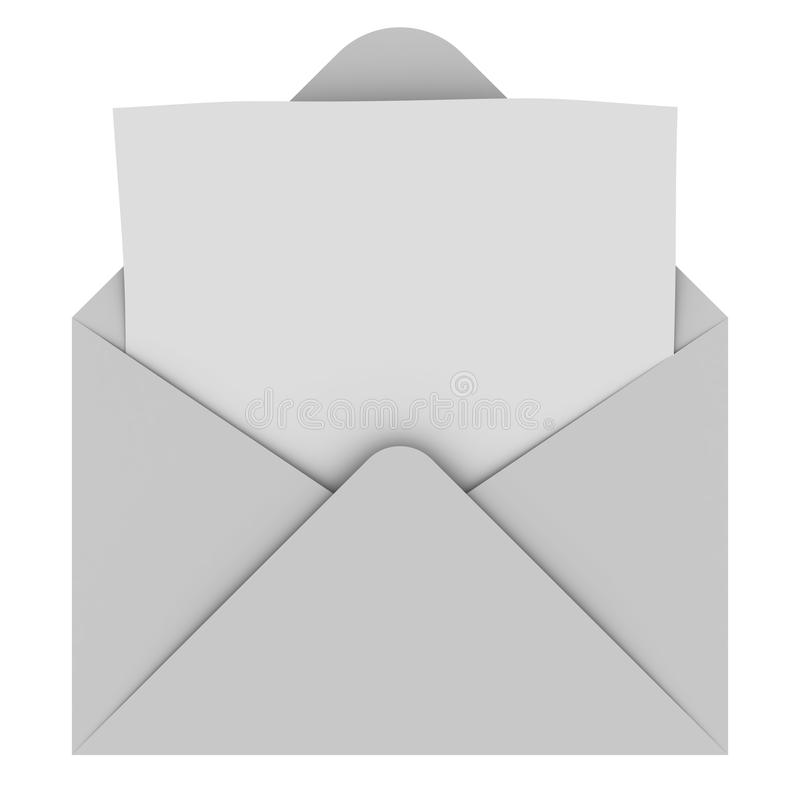 空白信包信函 皇族释放例证