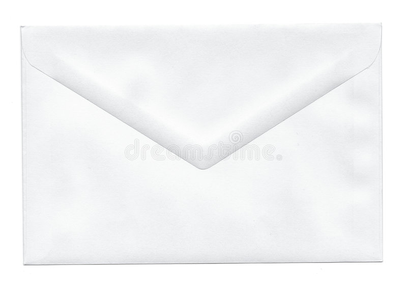 空白信包白色 免版税库存图片