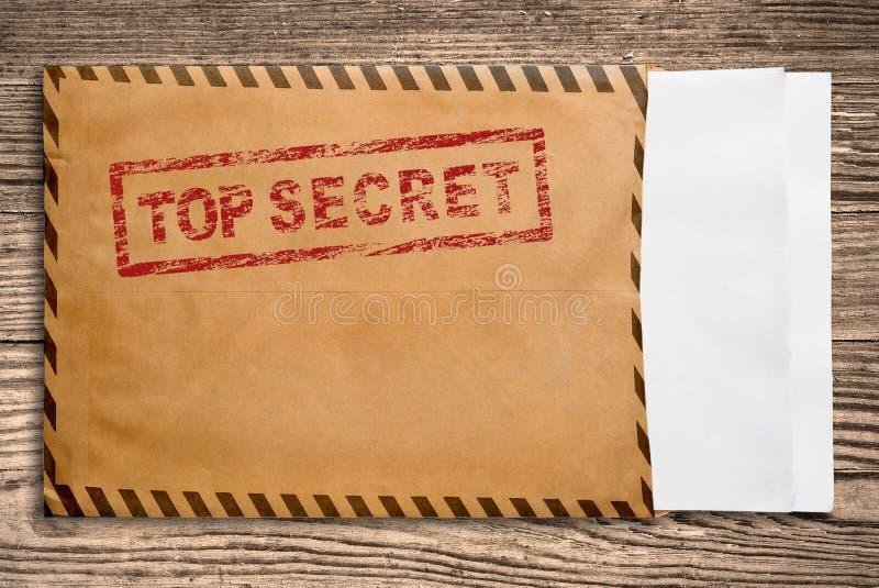 空白信封纸秘密印花税顶层 图库摄影