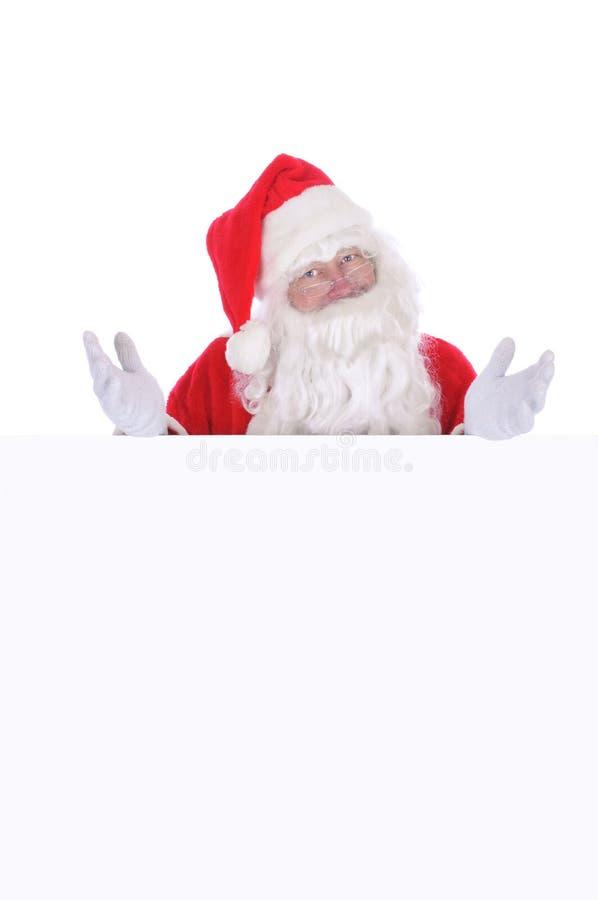 空白克劳斯・圣诞老人符号 免版税库存照片