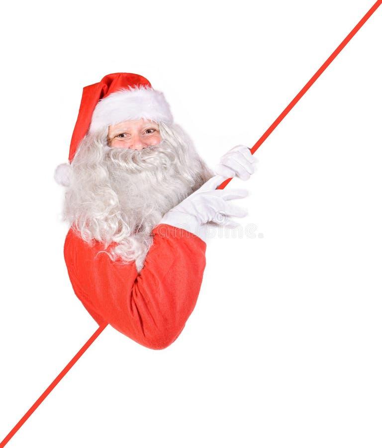 空白克劳斯藏品圣诞老人符号 免版税库存图片