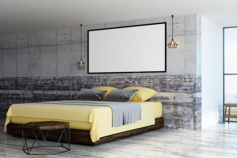 空白具体copmuter框架生成了图象照片墙壁 库存例证