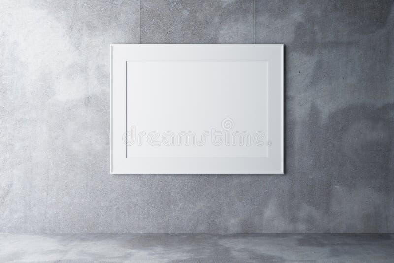 空白具体copmuter框架生成了图象照片墙壁 免版税库存照片
