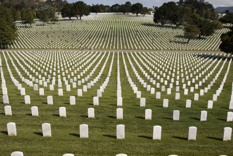 空白军事的墓碑 库存图片