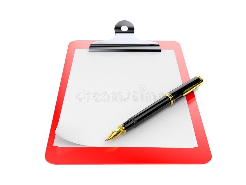空白剪贴板笔 向量例证
