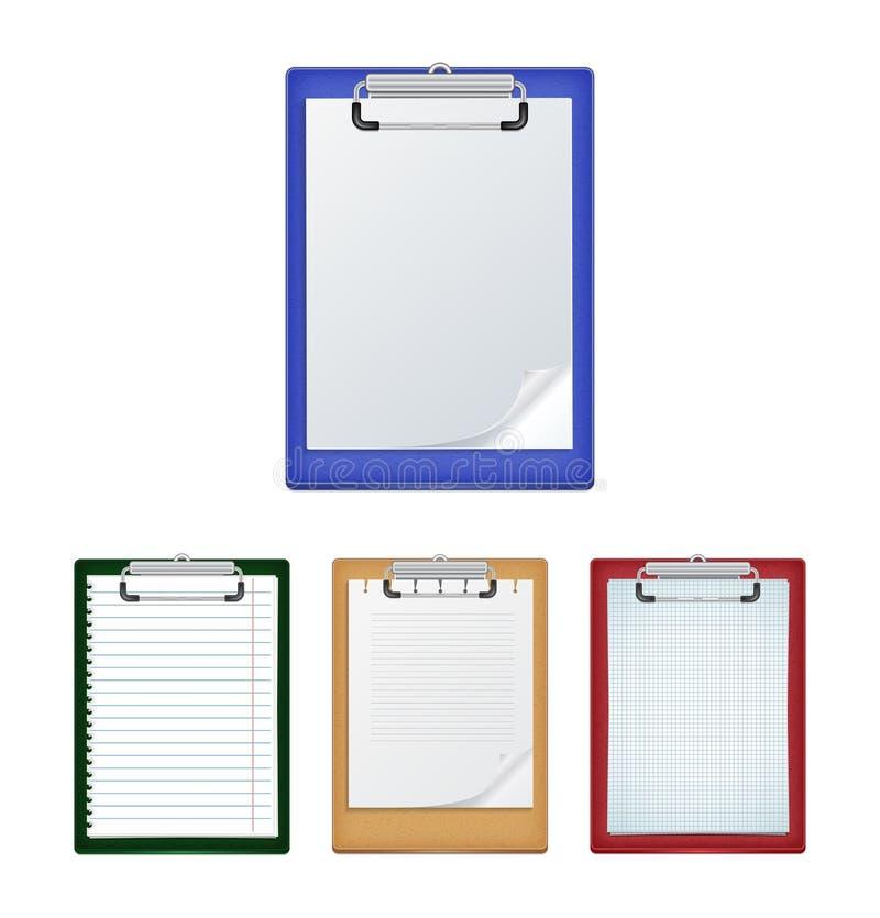 空白剪贴板纸张 库存例证