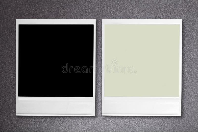 空白即时照片 查出在背景 免版税库存照片