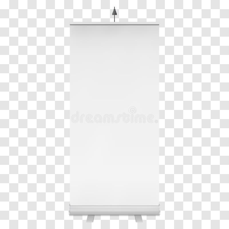空白卷起横幅立场 向量 向量例证