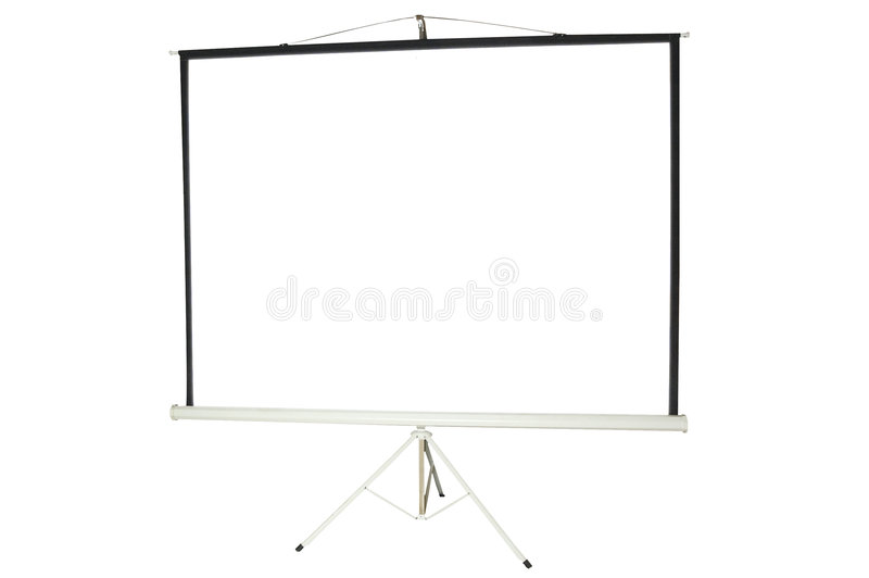 空白可移植的放映机屏幕 库存照片