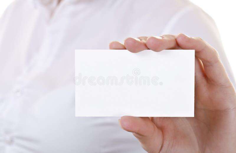 空白名片现有量 免版税库存照片