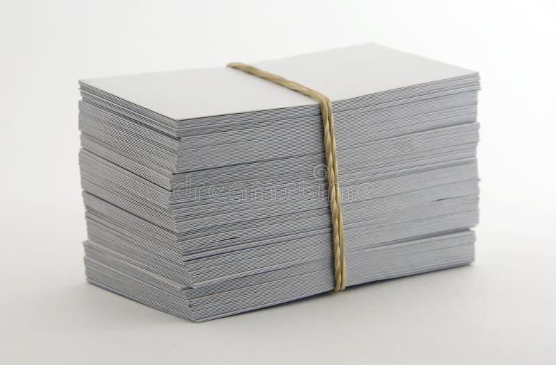 空白名片 免版税库存图片