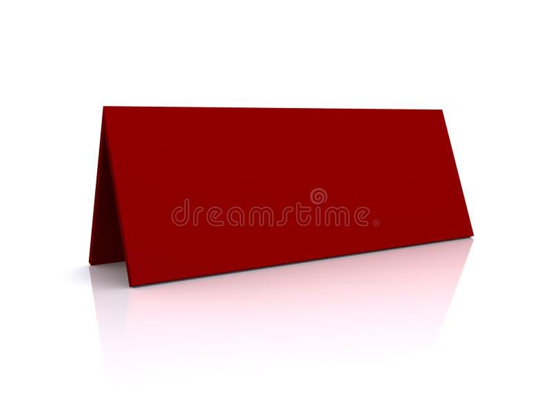 空白命名红色帐篷 库存例证
