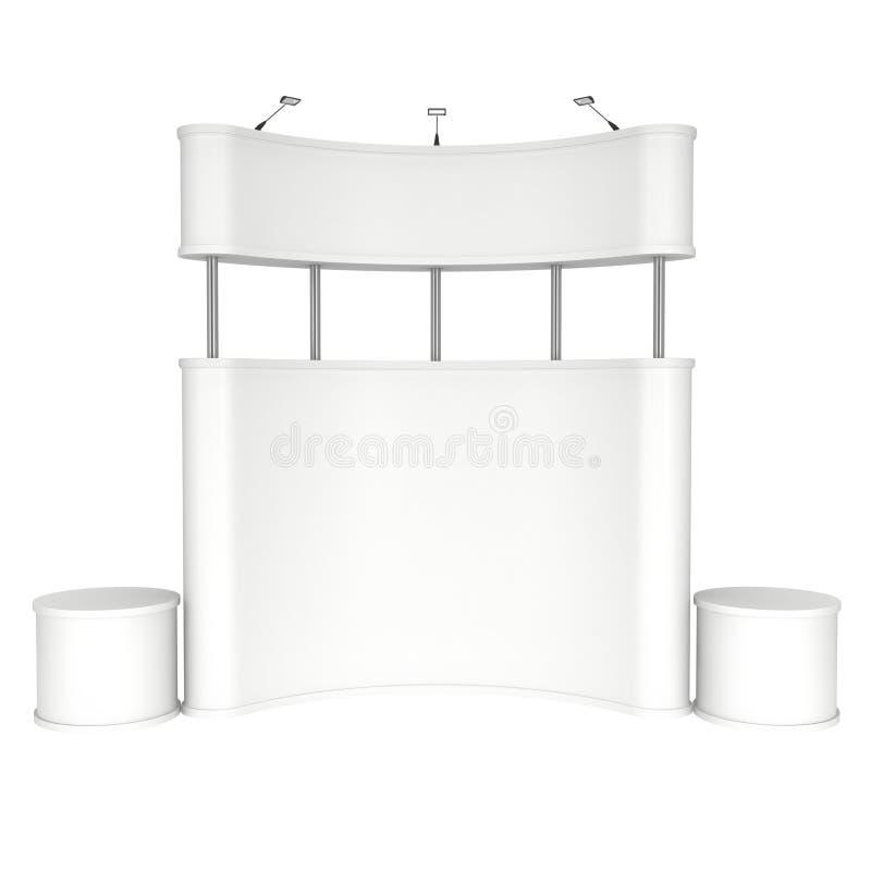 空白商业展览的摊白色和 向量例证