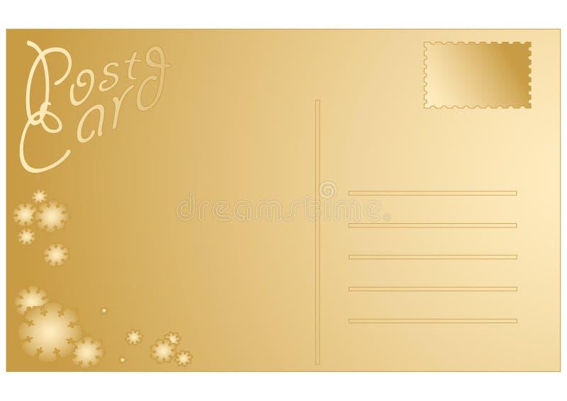 空白圣诞节明信片 向量例证