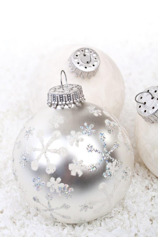 空白圣诞节的装饰 免版税库存图片