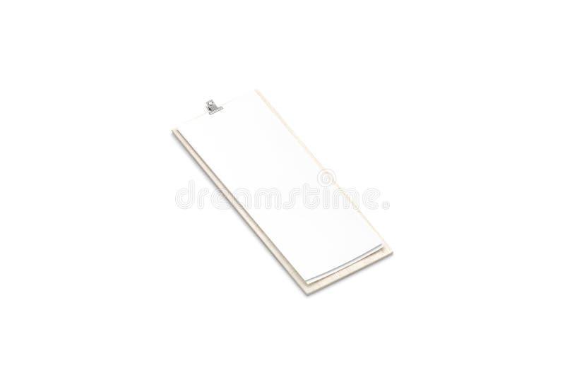 空白在木板大模型的白皮书菜单,被隔绝 皇族释放例证