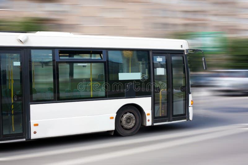 空白城市公共汽车 库存图片