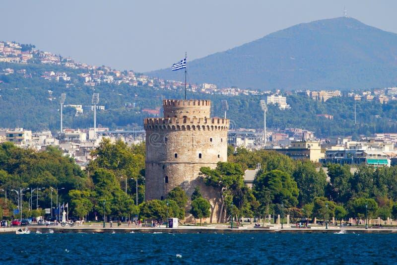 空白塔在塞萨罗尼基 免版税库存照片