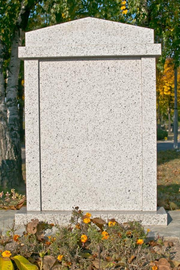空白墓碑 图库摄影