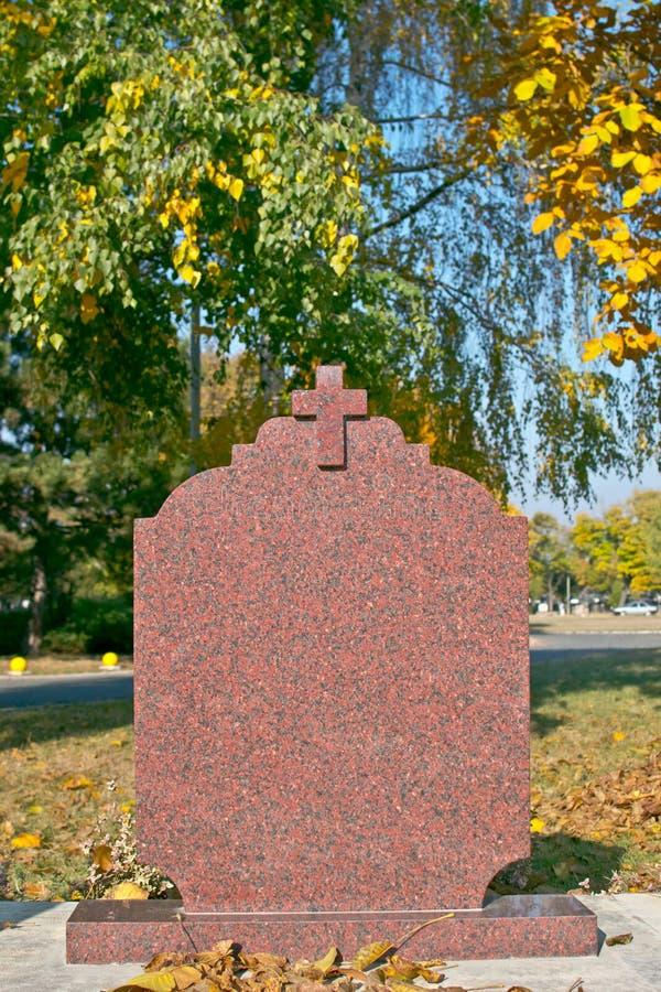 空白墓碑 库存照片