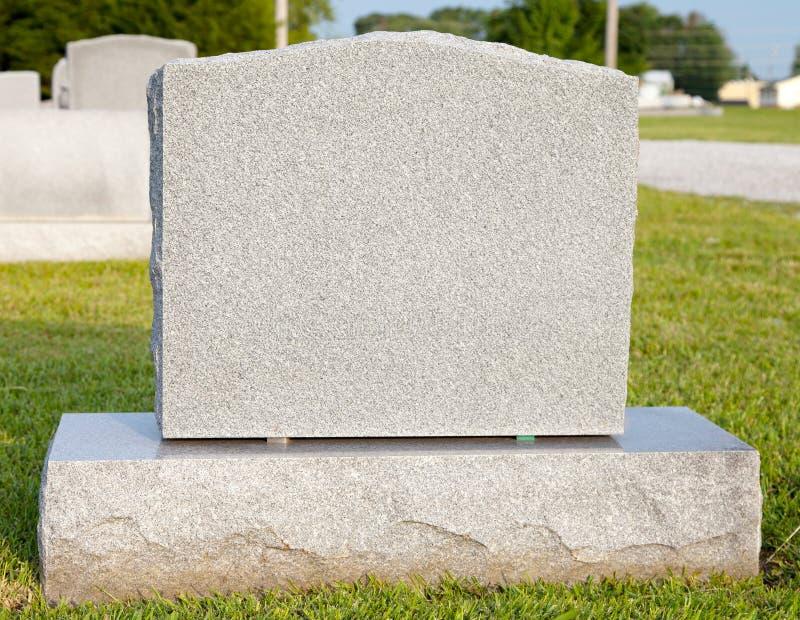空白墓碑 库存图片
