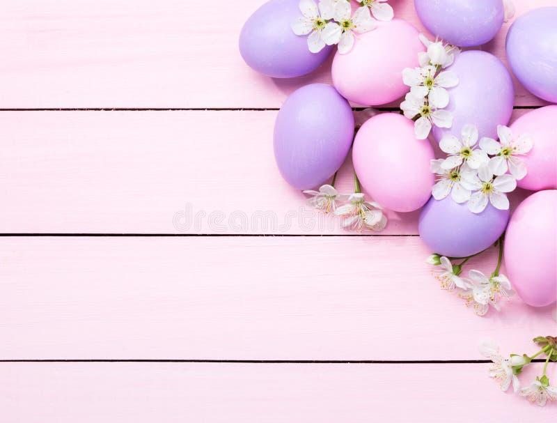 空白复活节彩蛋的花 库存照片