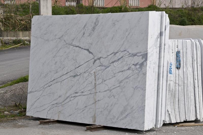 空白大理石的平板 库存图片