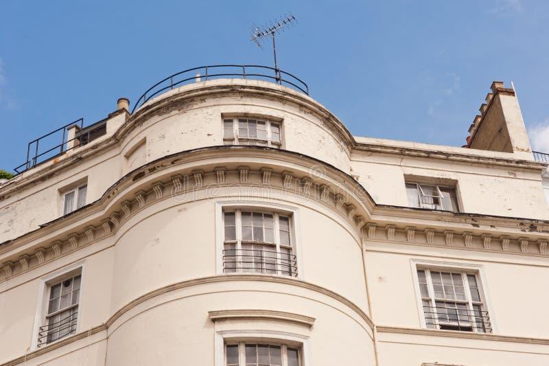 空白大阳台房子在伦敦。 免版税库存照片