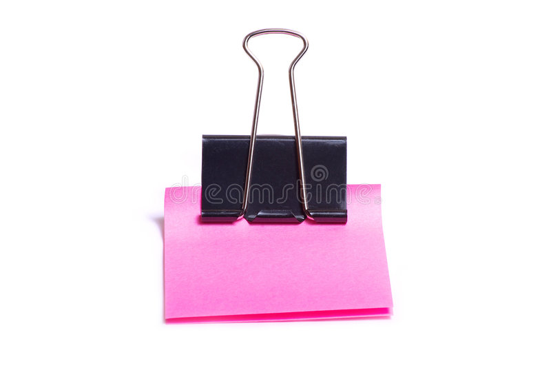 空白夹子粉红色 库存图片