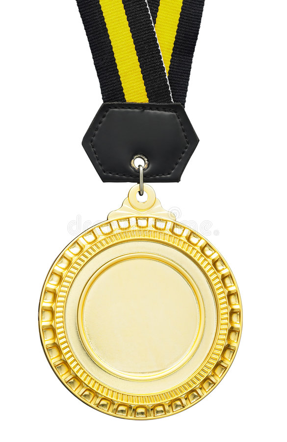 空白奖牌 免版税库存图片