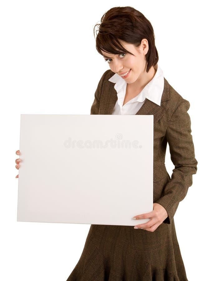 空白女实业家藏品符号白色 免版税库存照片